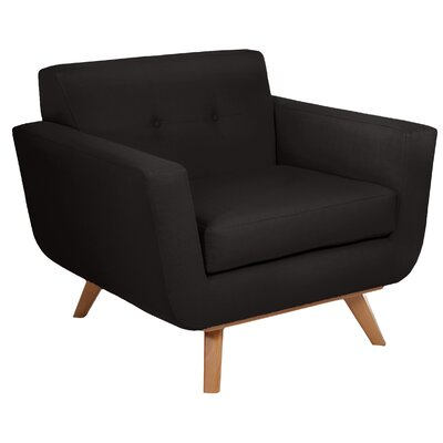 Atomic Armchair Upholstery: Charcoal