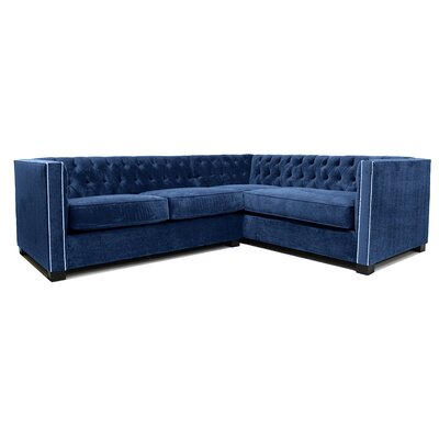 Venecia Sectional Upholstery: Navy