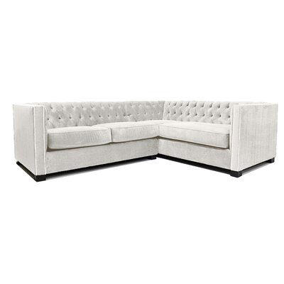 Venecia Sectional Upholstery: Cream