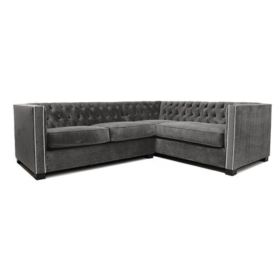 Venecia Sectional Upholstery: Charcoal