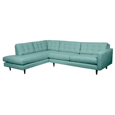 Mid-Century Sectional Body Fabric: Laguna, Sectional Orientation: Left Hand Facing