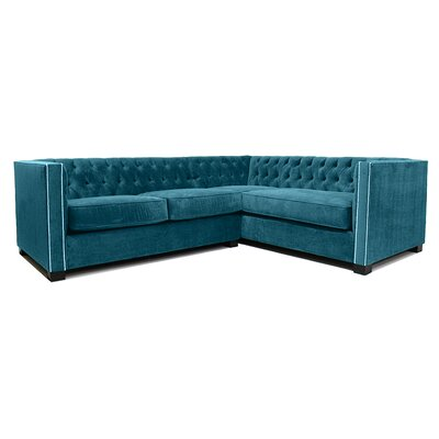 Venecia Sectional Upholstery: Dark Teal