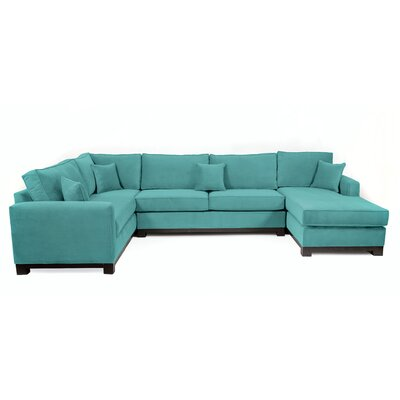 Bruno Sectional Body Fabric: Laguna/Teal