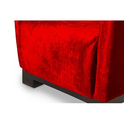 Lamarcus Barrel Chair Upholstery: Red