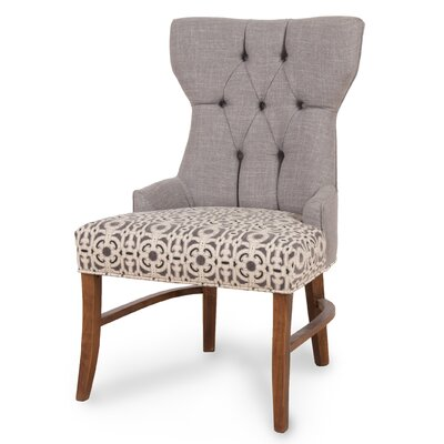 Teresa Side Chair Upholstery: Dolphin