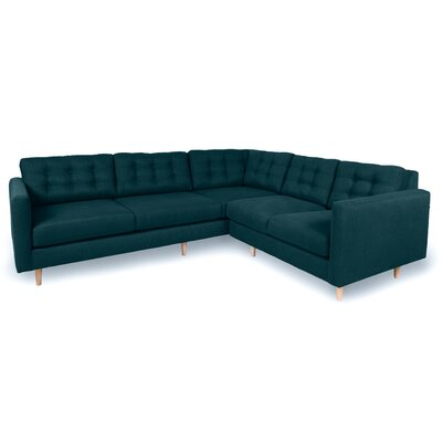 Patrick Sectional Upholstery: Azure
