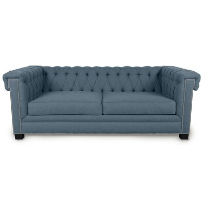 Foster Chesterfield Sofa Upholstery: Sea