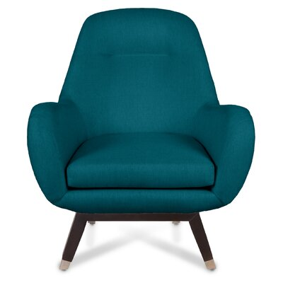 Mid Century Modern Arm Chair Upholstery: Azure
