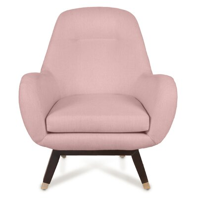 Mid Century Modern Armchair Upholstery: Blush