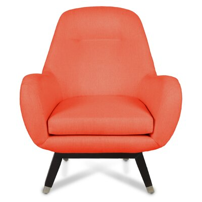 Mid Century Modern Arm Chair Upholstery: Saffron