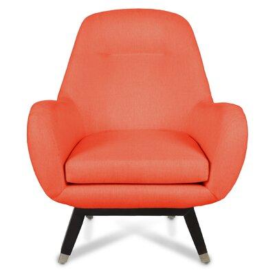Mid Century Modern Armchair Upholstery: Saffron