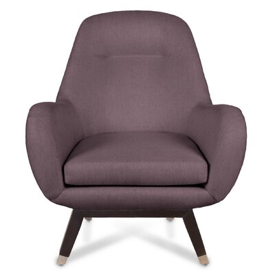 Mid Century Modern Armchair Upholstery: Charcoal