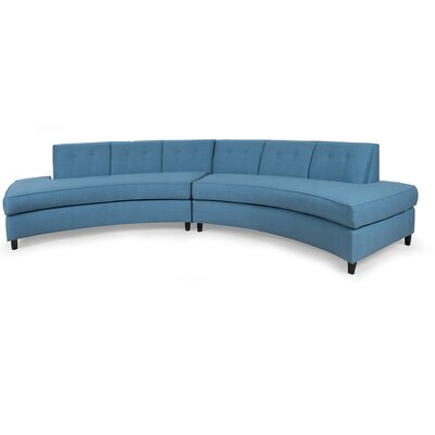 Rockerfella Sectional Upholstery: Sea