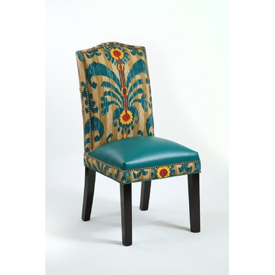 Loni M Designs Melanie Leather Parson Chair - Color: Teal / Tan at Sears.com