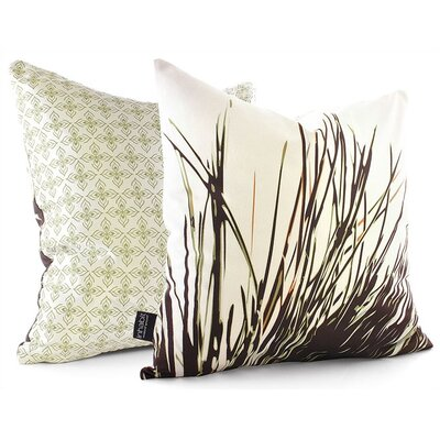 Botanicals Thatch Suede Throw Pillow Size: 13 x 24, Color: Grass