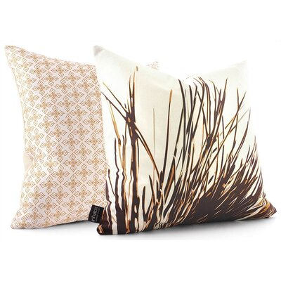 Botanicals Thatch Suede Throw Pillow Size: 13