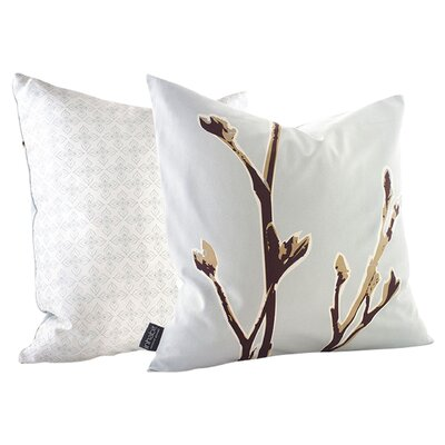 Botanicals Axis Suede Throw Pillow Size: 13 x 24, Color: Aqua