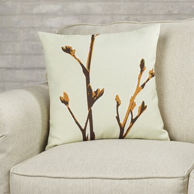 Botanicals Axis Suede Throw Pillow Size: 18 x 18, Color: Sunshine