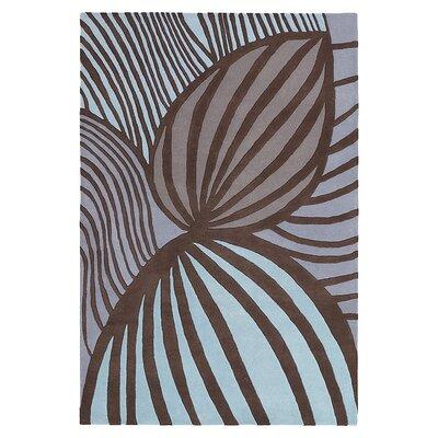 Leaf Hand Tufted Wool Fossil/Glacier Area Rug Rug Size: 8 x 10
