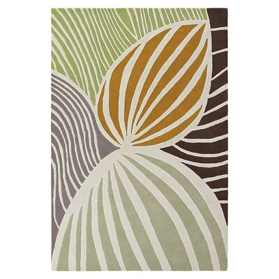 Leaf Natural & Apricot Area Rug Rug Size: 5' x 8'