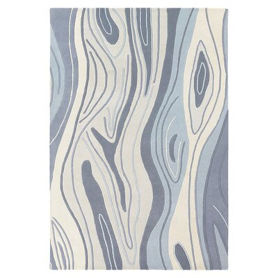 Madera Hand Tufted Wool Ocean Blue Area Rug Rug Size: 5 x 8