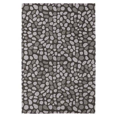 Pumice Stone Hand Tufted Slate Gray Area Rug Rug Size: 8 x 10
