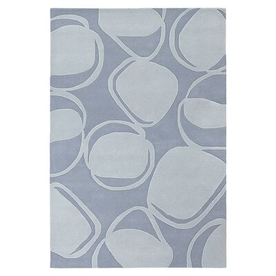 River Rock Hand Tufted Soft Blue Area Rug Rug Size: 5 x 8