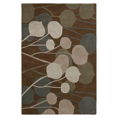 Seedling Hand Tufted Wool Chocolate/Natural Area Rug Rug Size: 5 x 8