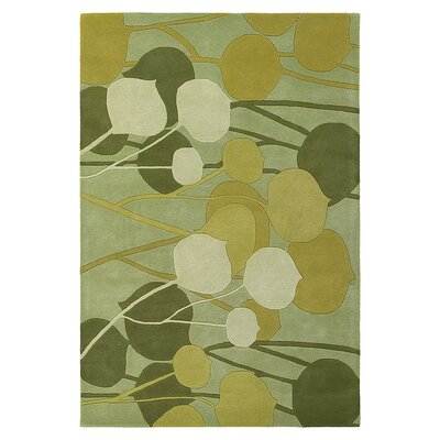 Seedling Hand Tufted Wool Summer Grass Area Rug Rug Size: 5 x 8
