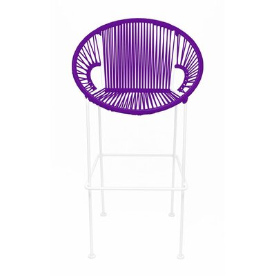 Innit Puerto Stool - Seat Color: Purple, Frame Color: White