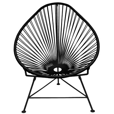 Canela Papasan Chair Finish: Purple, Finish: Black