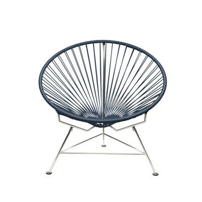 Papasan Chair Upholstery: Chrome, Upholstery: Gray