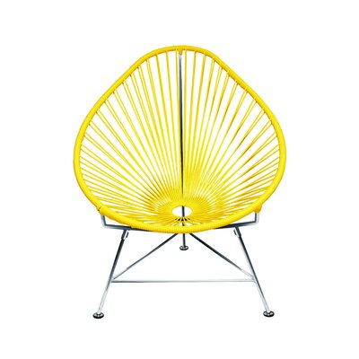 The Baby Acapulco Kids Papasan Chair Finish: Yellow, Weave Finish: Chrome