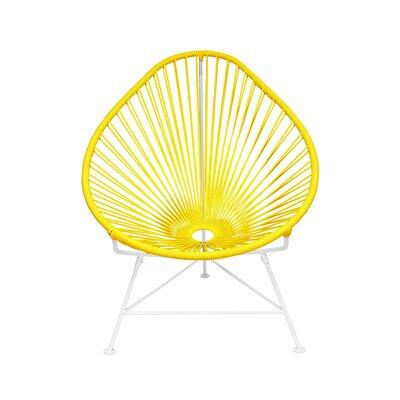 Canela Papasan Chair Finish: Yellow, Finish: Chrome