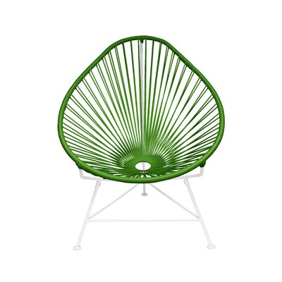 The Baby Acapulco Kids Papasan Chair Finish: Olive Green, Weave Finish: White