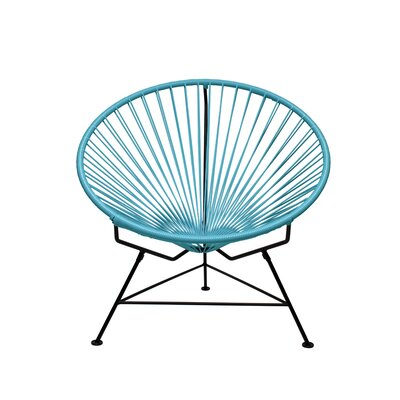 Papasan Chair Finish: White, Upholstery: Blue