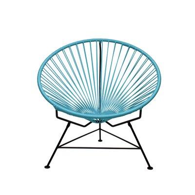 Papasan Chair Finish: Black, Upholstery: Blue