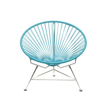 Papasan Chair Upholstery: Chrome, Upholstery: Blue
