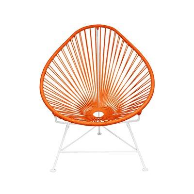 Canela Baby Pasadena Chair Upholstery: White, Finish: Orange
