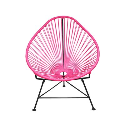 Acapulco Baby Pasadena Chair Finish: Pink, Weave Finish: Black