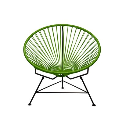 Papasan Chair Finish: Black, Upholstery: Cactus