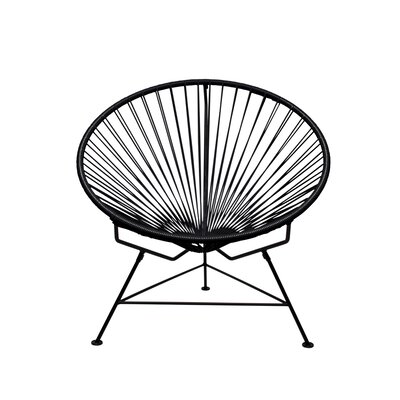 Papasan Chair Upholstery: Black, Finish: Black