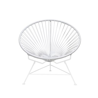Papasan Chair Finish: White, Upholstery: Orchid