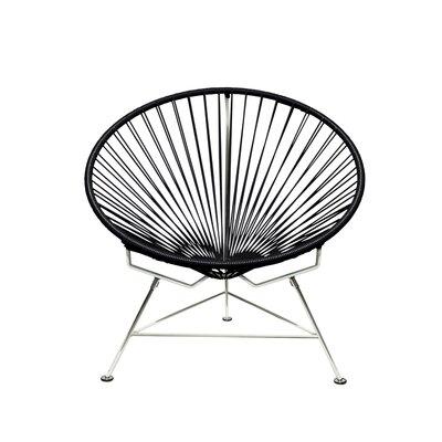 Papasan Chair Upholstery: Black, Upholstery: Chrome