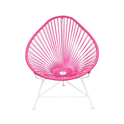 Canela Baby Pasadena Chair Weave Finish: White, Finish: Pink