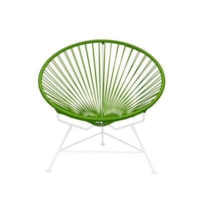 Papasan Chair Finish: White, Upholstery: Cactus