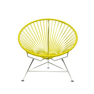 Papasan Chair Upholstery: Yellow, Upholstery: Chrome