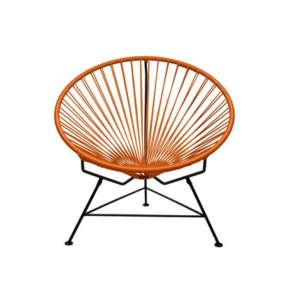 Papasan Chair Finish: White, Upholstery: Orange