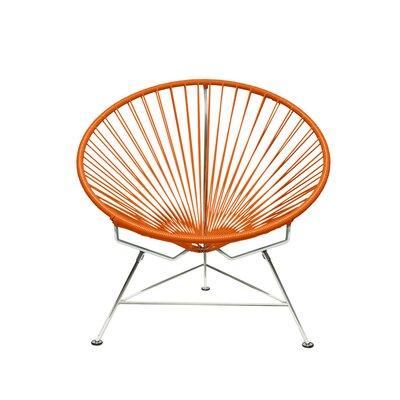 Papasan Chair Upholstery: Chrome, Upholstery: Orange