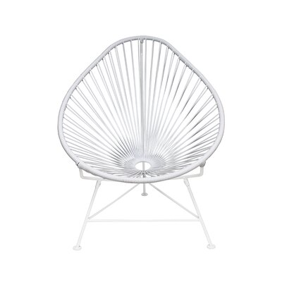 The Baby Acapulco Kids Papasan Chair Finish: White, Weave Finish: White